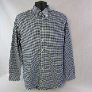 Stafford Mens' Large Plaid & Checks Oxford Shirt
